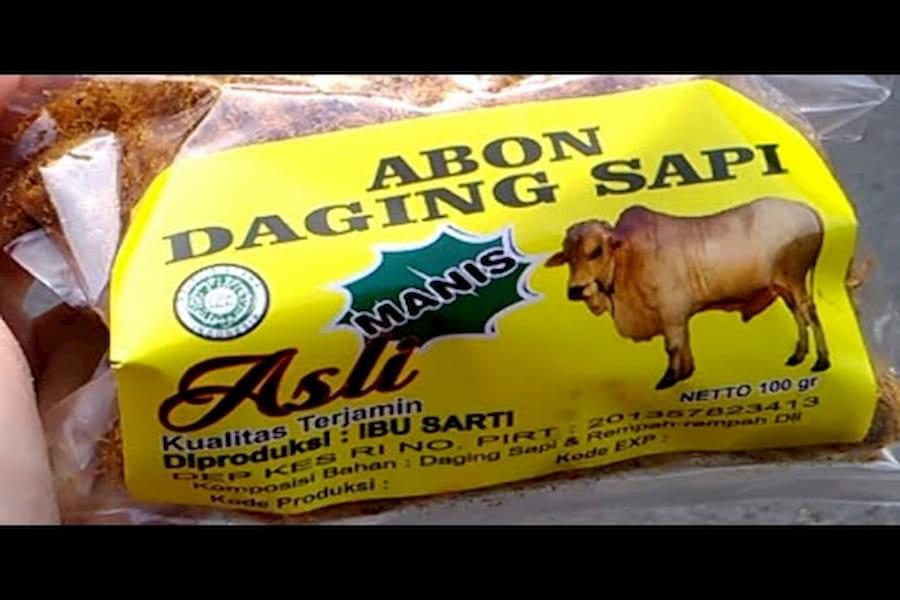 abon daging sapi asli bu sarti