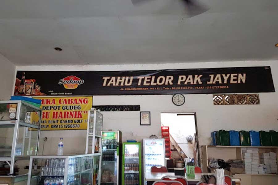 Tahu Telor Pak Jayen Surabaya