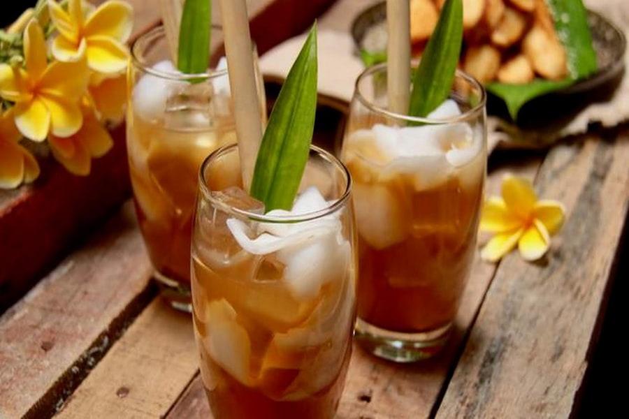 menu takjil es nangka kelapa gula aren